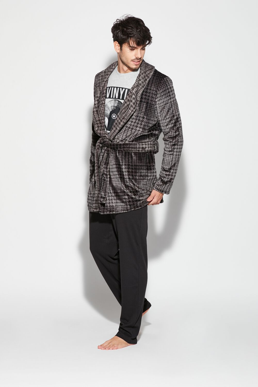 Men's Dressing Gown With Lettering