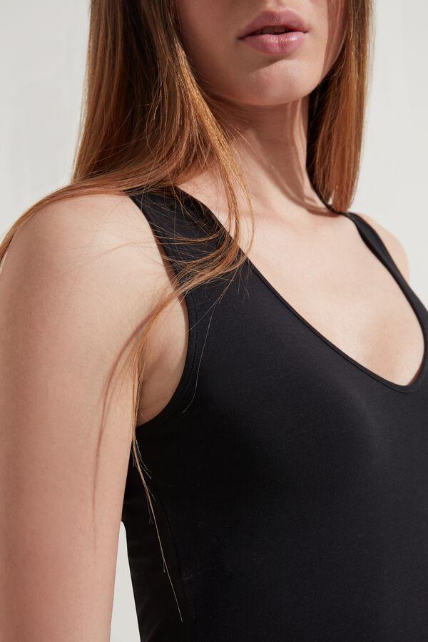 Wide Strap V-neck Cotton Camisole