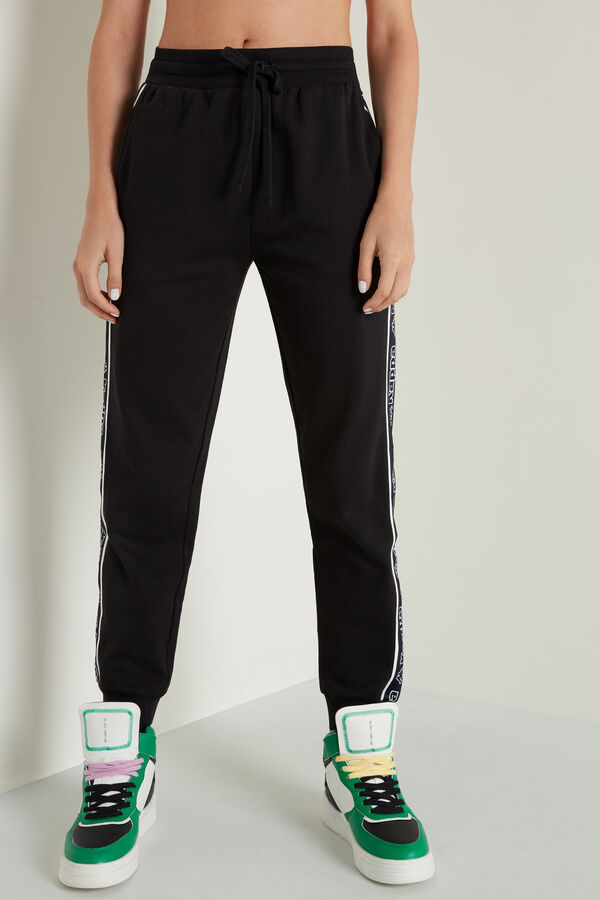 Kappa Heavy Fleece Pants with Side Bands and Pockets