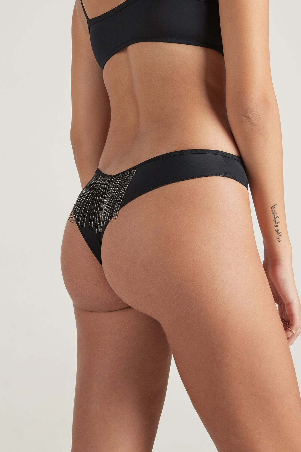 Fringes High-Cut Brazilian Brief