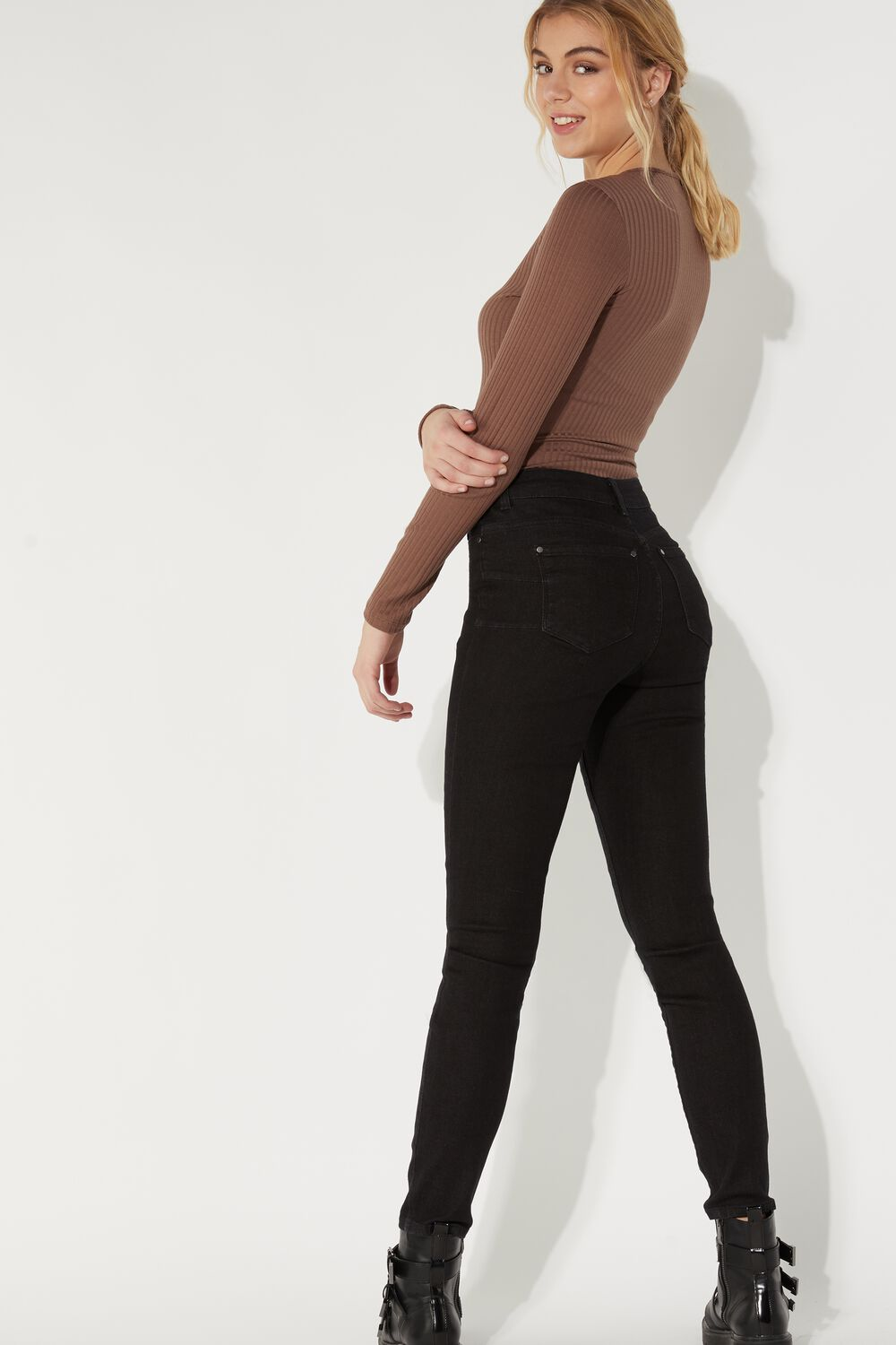 Push-Up Jeggings with Zip