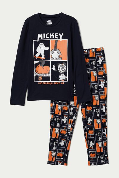 "Boy's Mickey Mouse ""The Original"" Long Cotton Pyjamas"