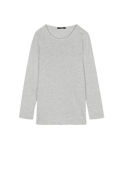 Camiseta Manga Larga de Cálido Algodón