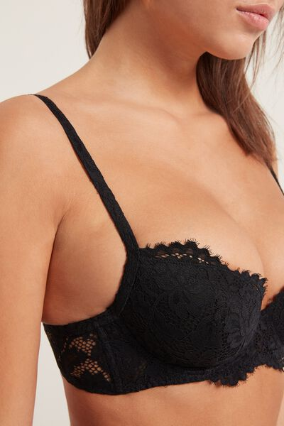 Wien Venice Lace Lightly Padded Balconette Bra