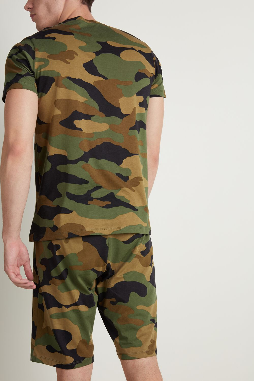 Men's Short Camouflage Print Pyjamas