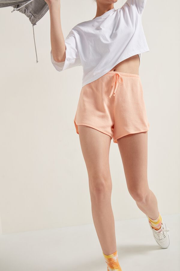 Ribbed Cotton Shorts