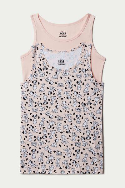 Pack of 2 Disney Printed Cotton Vests