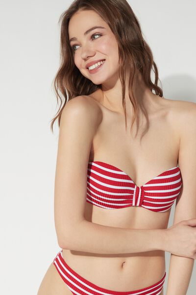 Bikini Fascia Red Stripes