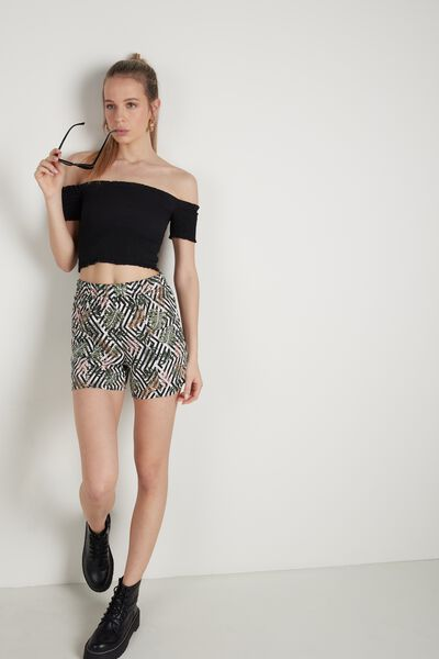 Short in Tela con Tasche
