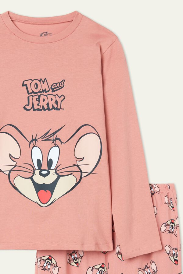 Pijama Comprido Estampado Tom and Jerry Rosa