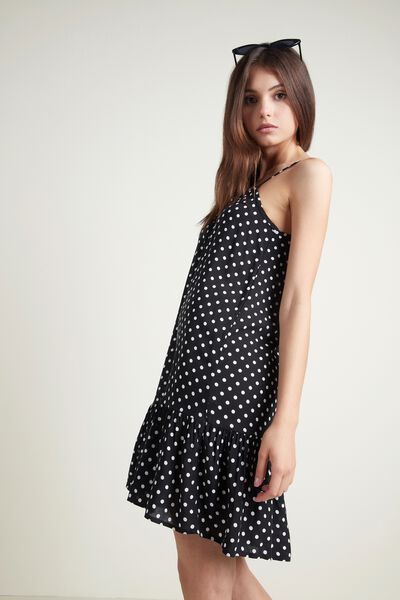 Flounced Viscose Dress