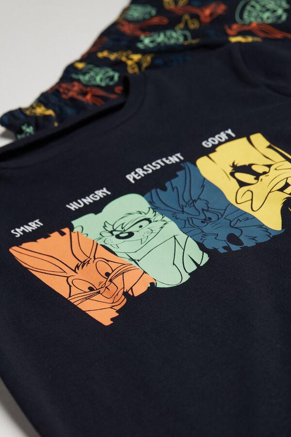 Pijama Lungă Copii Bumbac Gros Imprimeu Looney Tunes