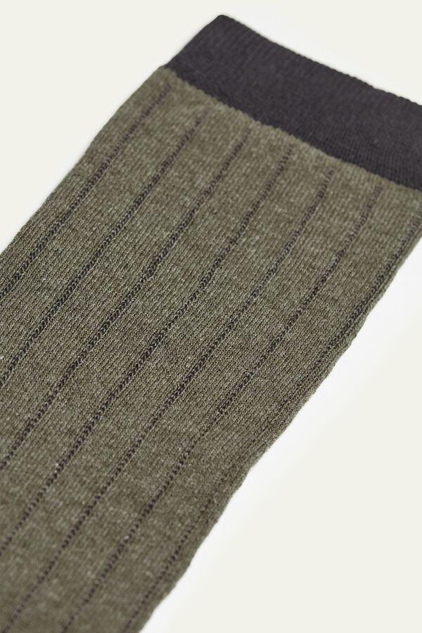 Long Patterned Lightweight Cotton Socks