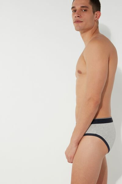 Contrast Waistband Briefs