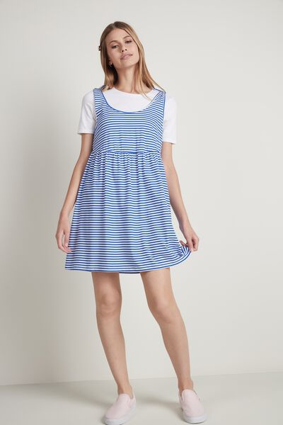 Cotton Dress with Bows on the Shoulder Straps