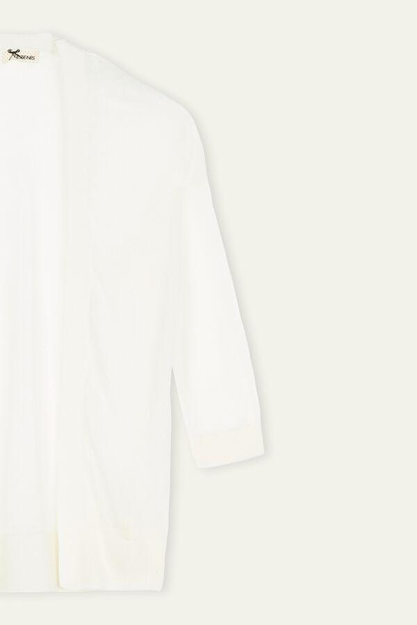 Ultra Light Lurex 3/4 Sleeve Cardigan