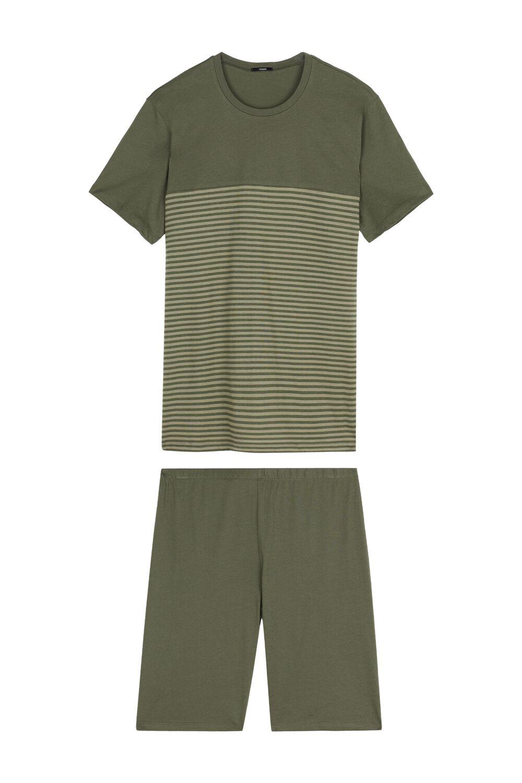 Men's Short Small Stripes Pajamas