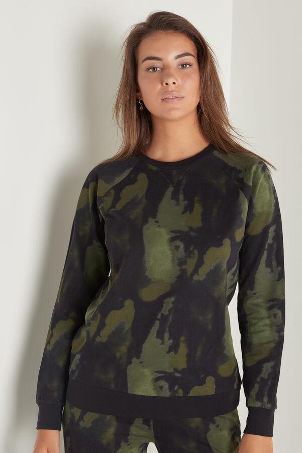 Long-Sleeved Printed Cotton Sweatshirt