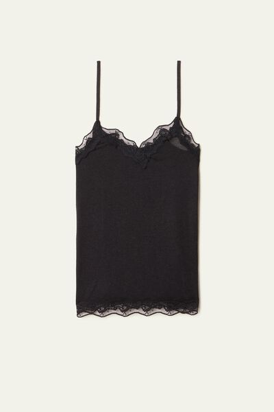 Camisole in Viscose and Merino Wool