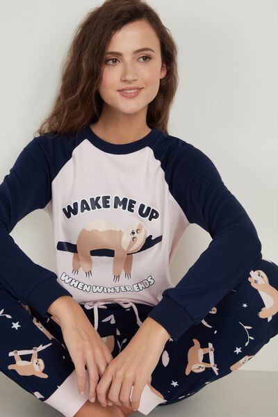 """Mr. Wonderful """"Never stop dreaming"""" Long-Sleeved Heavy Cotton Top"""