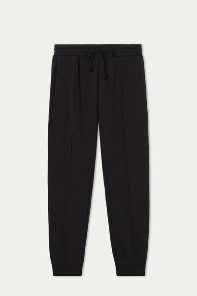 Fleece Joggers with Top Stitching