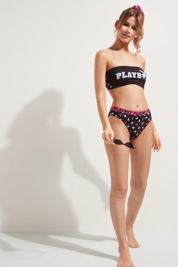 Bandeau-Bikinioberteil Playboy