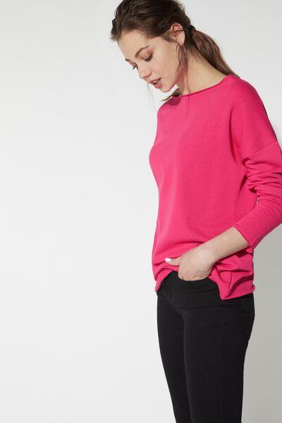 Raw-Cut Boat-Neck Sweatshirt