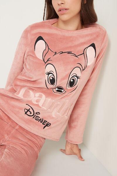 Long Fleece Pyjamas with Disney Bambi Print