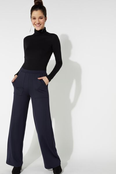 Milano Stitch Palazzo Pants with Pockets