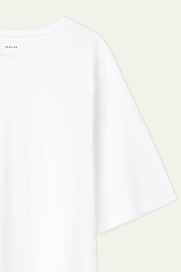 T-Shirt Comprida em Algodão Oversize