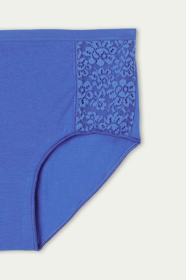 Culotte Taille Haute en Coton et Dentelle Recyclée