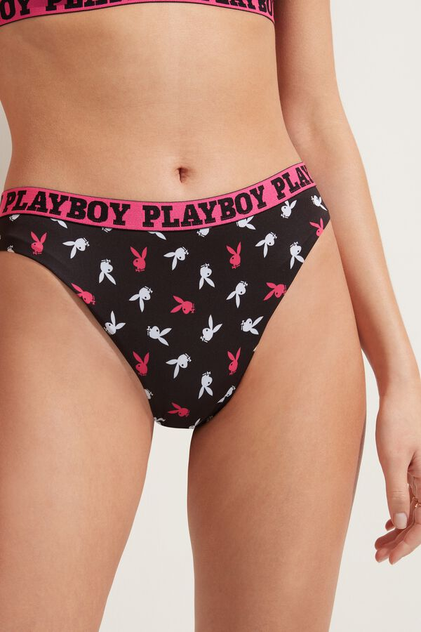 Playboy High-Leg Bikini Bottoms