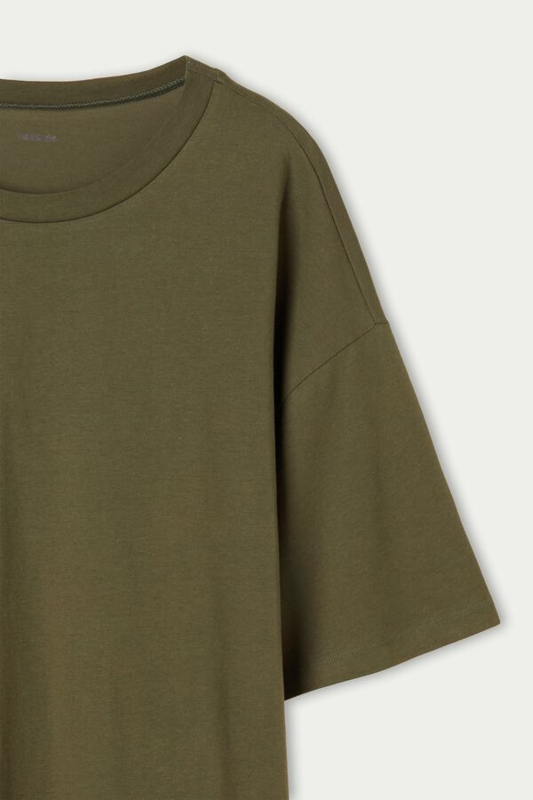 Oversize Long Cotton T-Shirt