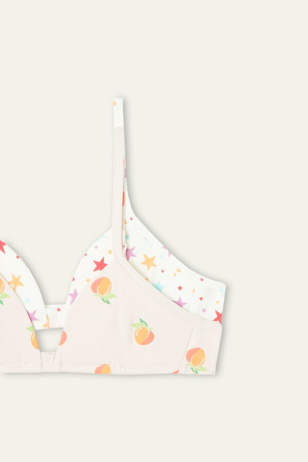 2 X Printed Triangle Bra Multipack