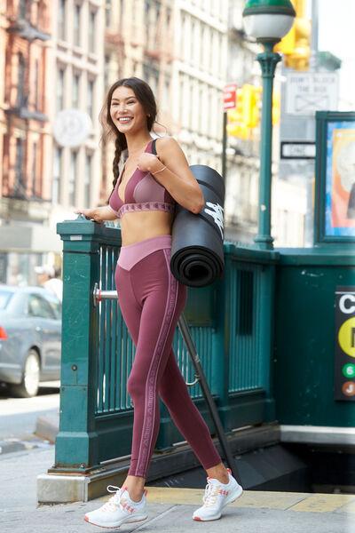 Leggings aus Baumwolle mit Kappa Seitenstreifen