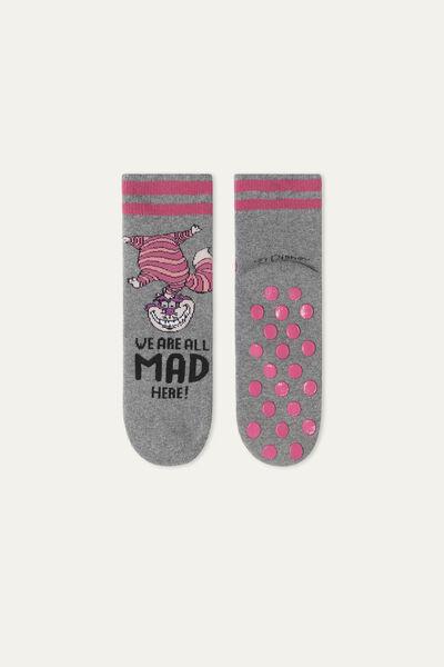 Non-Slip Socks with Disney Cheshire Cat Print