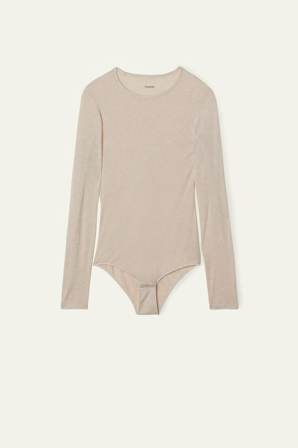 Merino Wool Blend Long Sleeve Bodysuit