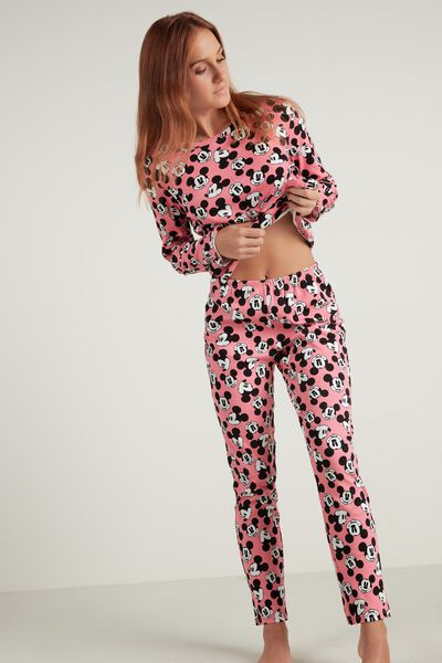 Długa Piżama z Bawełny Mickey Mouse