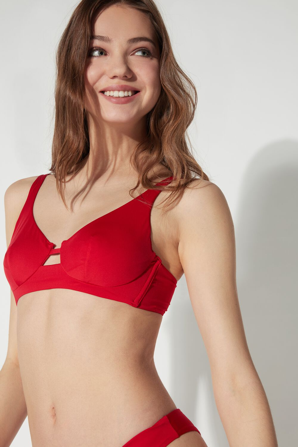 Plain-Coloured Balconette Bikini Top