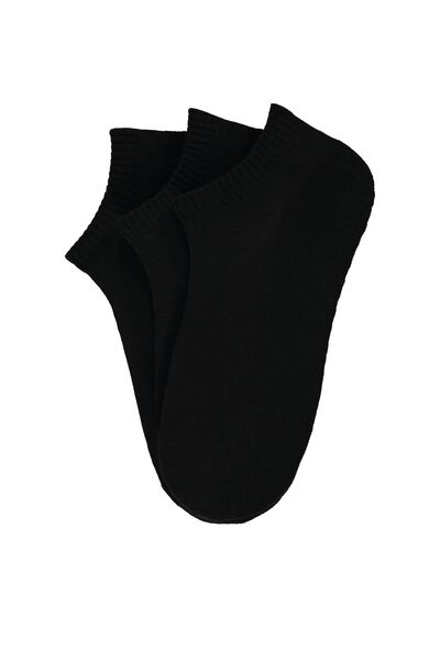 3 x Invisible sport socks in cotton