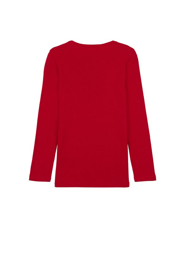 Unisex Long Sleeve Warm Cotton T-Shirt