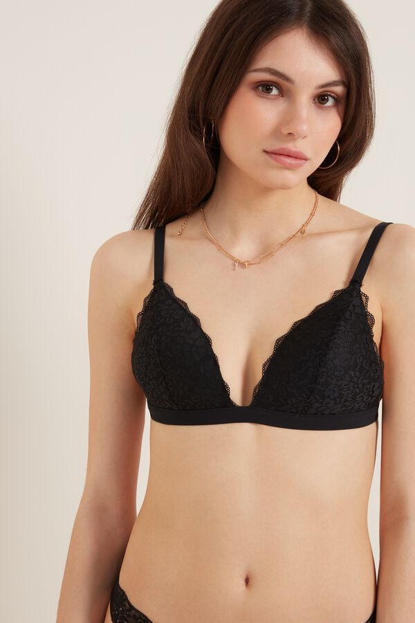 Istanbul Recycled Lace Triangle Bra