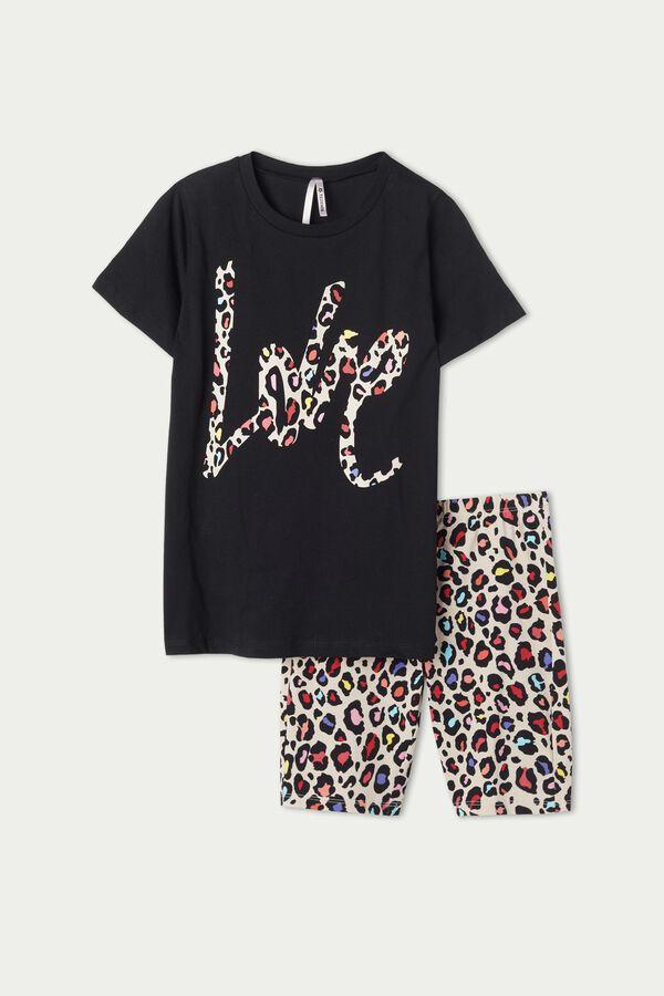 Pyjama Court Fille Imprimé Animalier