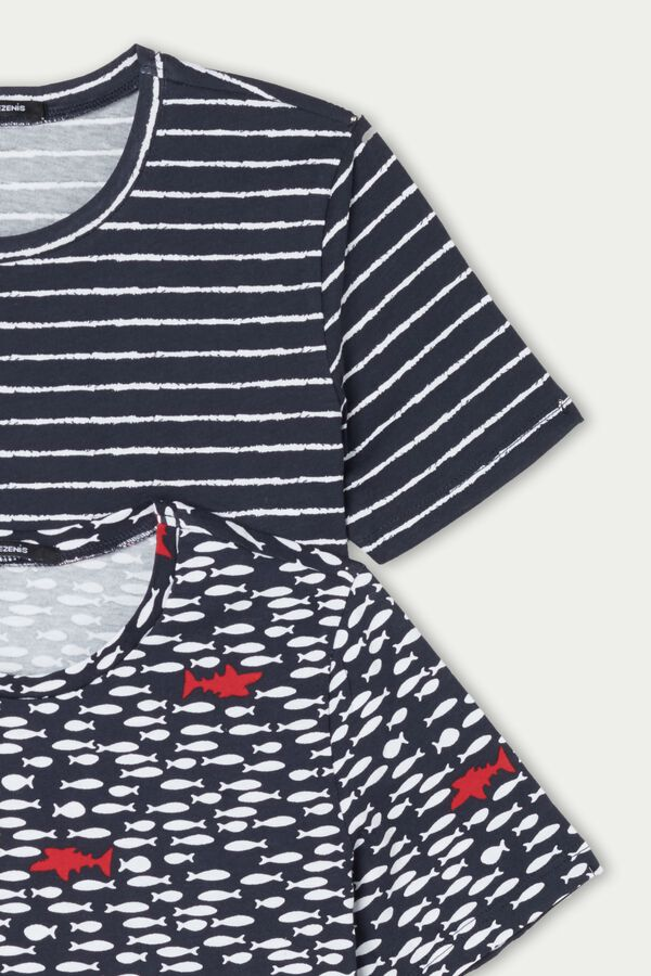2 x Unisex Short Sleeve Cotton Top