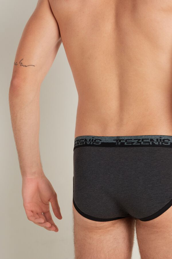 Cotton Briefs with Logo Elastic Band