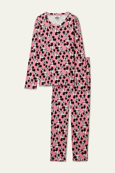 Pijama Largo de Algodón Mickey Mouse