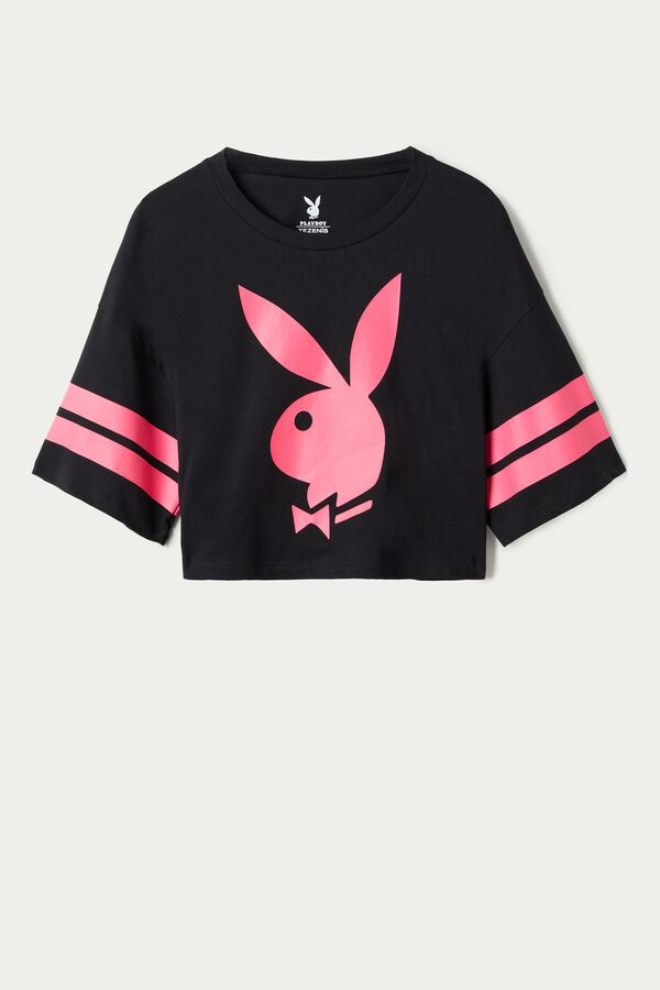 Playboy Oversized Cropped T-Shirt