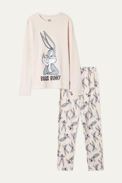 Girls' Long Heavy Cotton Pyjamas