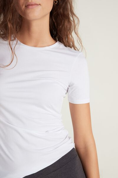Crew-Neck Stretch-Cotton T-Shirt