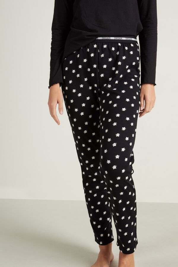 Long Printed Cotton Pants